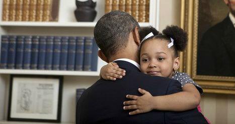 Obama and girl2
