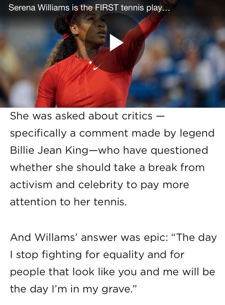 Serena Actual quote